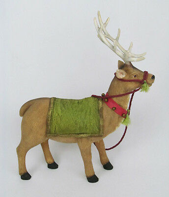 "Paper Mache 18"" Reindeer Deer Statue Figurine Doll Accessory Prop Decor"