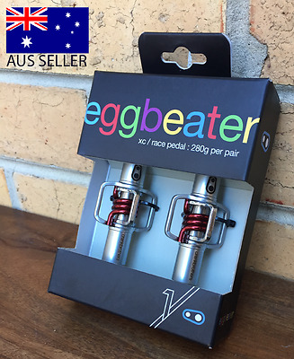 Crank Brothers Eggbeater 1 MTB XC/Race Pedals (Red Spring) + Cleats