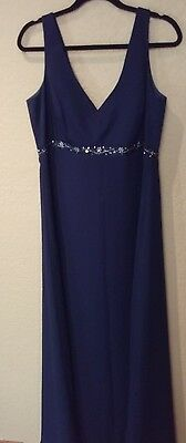 Long Navy Dress.  Formal.  Mother of Bride or Groom.  Classy. Excellent. Size 16