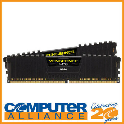 16GB DDR4 Corsair (2x8GB) 2400MHz Vengeance LPX CMK16GX4M2A2400C16 Ram BLACK
