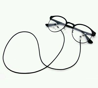 Black Wax Cord Strap Chain String Lanyard Spectacle Eye Glasses Sunglass Readers