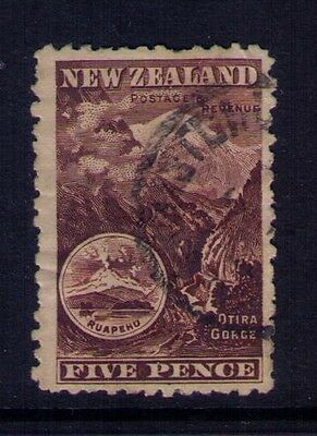 New Zealand Stamp  SC# 77a Different perforations Unwmk Used Cat.$25