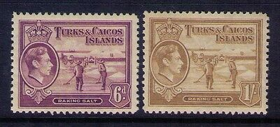 Turks And Caicos Stamps Kgvi Sc# 88-86 Mvlh