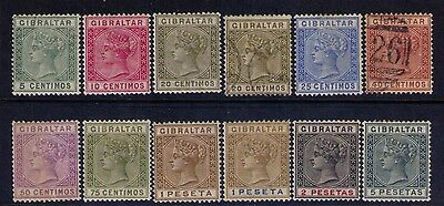 GIBRALTAR  QV DEFINITIVE ISSUE SC # 29-38 MH/USED Cat. $285