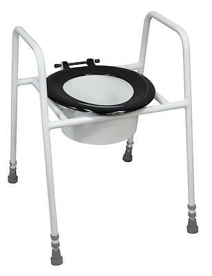 Aidapt Solo Skandia Raised Free Standing Toilet Seat and Frame with Bucket