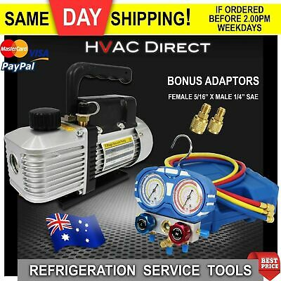 Vacuum Pump and Manifold Kit and for Refrigeration & HVAC split Installations