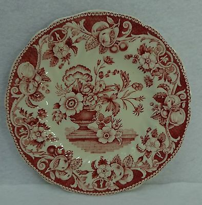 ROYAL DOULTON china POMEROY RED pattern Bread Plate - 6-1/2""