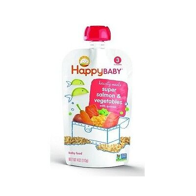 NEW  Happy Baby Organic Super Salmon Vegetables with Quinoa 113g