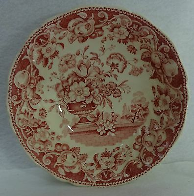 ROYAL DOULTON china POMEROY RED pattern Cereal or Dessert Bowl - 6""