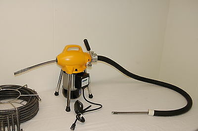 "Pipe Drain Cleaning Machine 3/4"" - 4"" Sectional B Snake Cleaner by BLUEROCK S75"