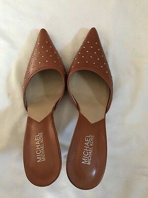 Michael Kors Pointy Pumps Brown Sandals Slide Heel Women's Size 7