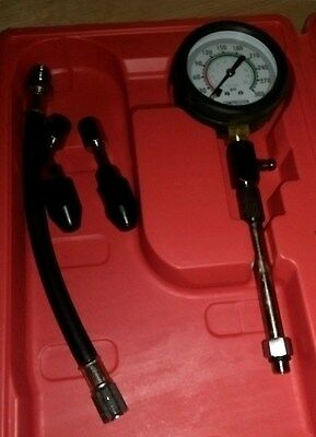 New JMV Compression Tester 300 psi with Universal Rubber Adapter and carry case