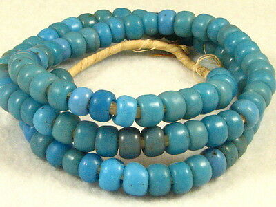 Old Sky BLUE PADRE Glass Trade Beads 9 to 10 mm diameter