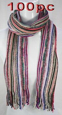 100pc Wholesale Bulk Woollen Women Lady Girl Winter Scarves Mixed Color Scarf