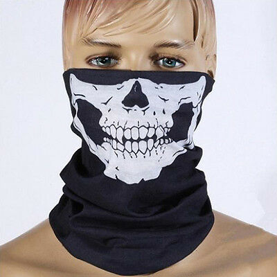 Motorcycle Skull Bandana Bike Helmet Neck Face Cover Mask Paintball Ski Headband