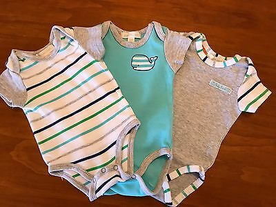 PUMPKIN PATCH brand SHORT SLEEVE BOYS BODYSUITS SIZE 0-3 MONTHS BABY BOY BUNDLE