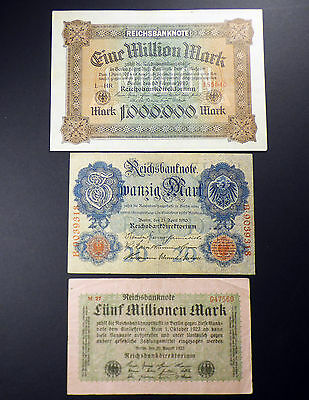 Lot Of Old German Reichs Bank Notes 1910 - 1923