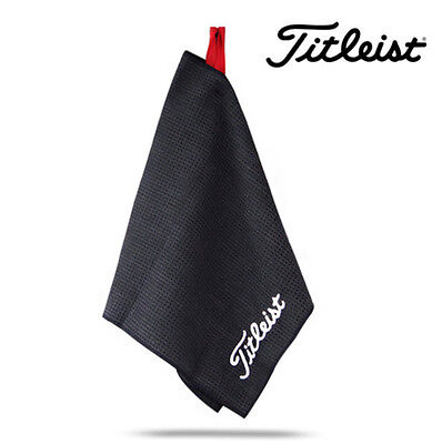 "⛳ 2017 Titleist Microfiber Waffle Design Golf Towel 16"" x 32"" Black TA5ACMFTWL"