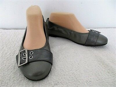 Ziera Leather Casual Ballet Flat Shoes Size 7W (38)