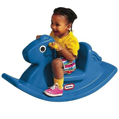 Little Tikes Rocking Horse, Toddler & Baby Indoor / Outdoor Play Toy - Blue