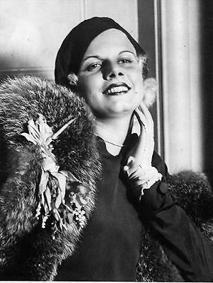 Beautiful Jean Harlow With Fur 1930's 8X10 Photo 335