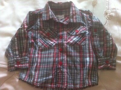 Baby Boys Checkered Shirt By Early Days For 6-9 Month Old