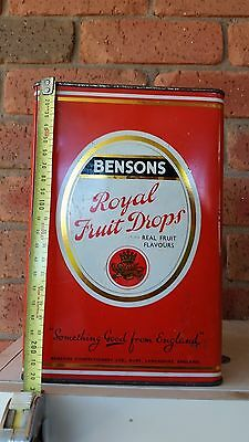 Vintage 1960  Bensons Toffee Tin Royal Fruit Drops