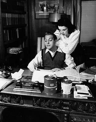 Beautiful Young Judy Garland At Desk   8X10 Photo J2350 5