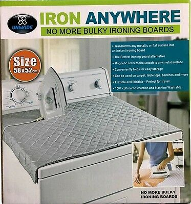 New Iron Anywhere Ironing Mat Compact Portable Ironing Board Dryer Washer