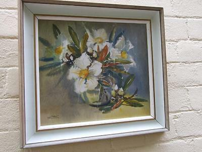 Vintage Watercolour Painting By Alison Faulkner'' Flowers in Vase' Signed Framed