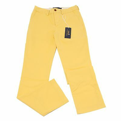 6851S pantalone bimbo RALPH LAUREN STRETCH SUPER SLIM giallo pant kid