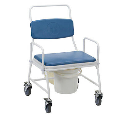 Drive Medical Birstall Large Bariatric Mobile Commode Chair with Wheels
