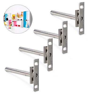 4pcs Steel Hidden Concealed Floating Shelf Support Bracket Wall Easy Install
