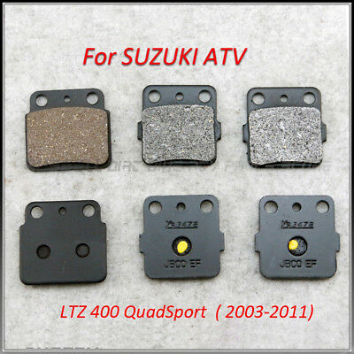 Motorcycle Brake Pads Set FRONT AND REAR For SUZUKI ATV LTZ 400 QuadSport (03-11