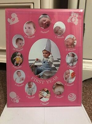 My First Years Pink Picture Frame Baby GIFT NIB New Baby Present