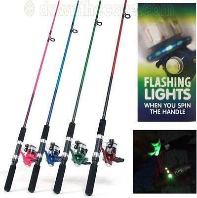 Jarvis Walker 5ft Pink Spinning Rod and Reel With Flashing LED