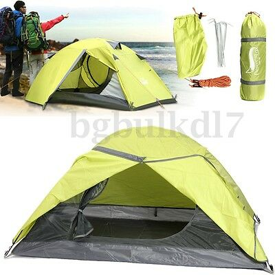 2 Person Family Camping Tent Double Layer Waterproof Windproof Hiking Outdoor AU