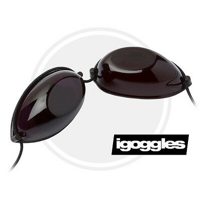 SUNBED TANNING GOGGLES ELASTICATED CORD FOR EYE PROTECTION SLIMLINE IGOGGLES On