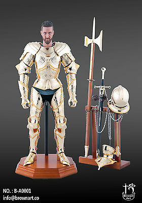 Brown Art FULL METAL Golden Gothic Armour Knight Ritter 1/6 Figuren
