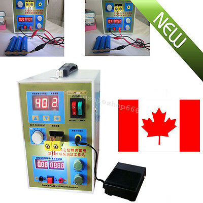 CA LED Dual Pulse Spot Welder Machine Battery Charger 800A 0.1-0.2mm Adjustable