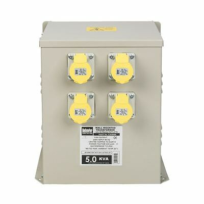 Defender 5kVA Wall Mounted Transformer 4x 16A Outlets 110V (CLEARANCE)