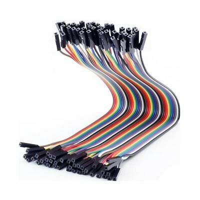 40PCS 2.54mm 1P-1P Female to Female DuPont Connect Cable Jumper Wire 30CM