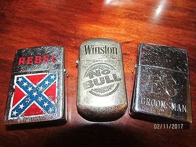 "Lot of Cigarette Lighters....Zippo...Winston....Rebel! ""FREE SHIPPING""!"