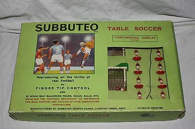1970s Subbuteo Table Soccer Continental display edition Vintage Football