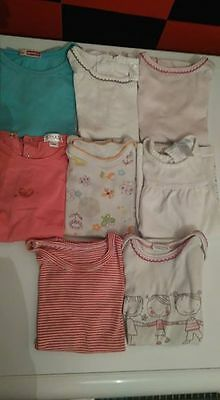 lot maillots manches courtes fille 18 mois