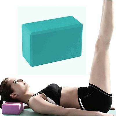 2 x BodyRip Pilates Yoga Block Foaming Foam Brick Exercise Stretching Blue