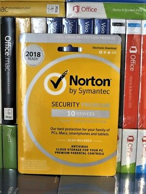 Norton Internet Security Premium 2019 10-Device 1-Year Subscription Product Key