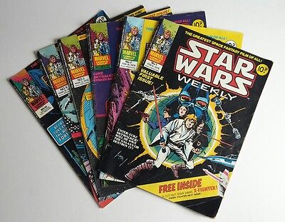 Vintage STAR WARS WEEKLY 1978 comics magazines FIRST ISSUE 1, 2, 3, 5, 6, 10