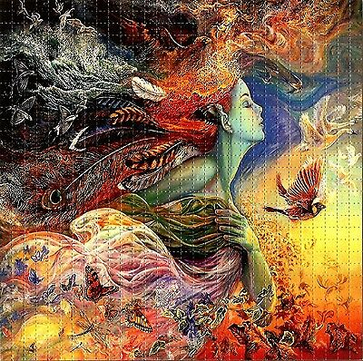 Mother Nature Blotter Art Psychedelic Perforated Print Acid Lsd Free Hofmann