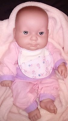 "14"" BERENGUER 36cm Beautiful Baby Dolls Vinyl Body Blue Eyes Exc Cond"